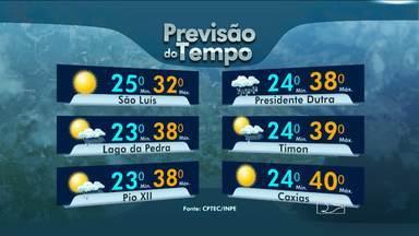 Veja a previsão do tempo para esta quinta-feira (12) - Altas temperaturas sem previsão de chuvas nesta quinta-feira (12) em várias cidades do Maranhão.