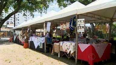 Feira de economia solidária começa em Juiz de Fora - Evento vai até o próximo sábado (14) na cidade. Artesãos de 10 cidades apresentam produtos em 40 stands.