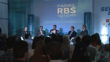 Painel RBS Notícias debate o empreendedorismo em Erechim, RS - Evento aconteceu na Finapre.