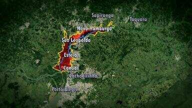 Estudo mapeia áreas com risco de inundações na Região Metropolitana do RS - Moradores destes locais são os que mais sofrem com enchentes.