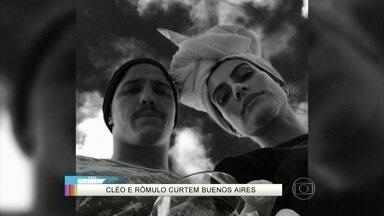Cleo Pires e Rômulo Neto postam foto romântica em Buenos Aires - Malhação de Ivete Sangalo e Lucas Lucco chamam atenção dos fãs