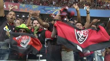Gols e festa da torcida: Vitória comemora o acesso à série A na Fonte Nova - Confira as notícias do rubro-negro baiano.