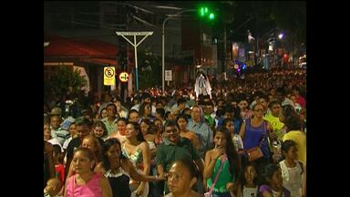 Trasladação da imagem de N.Sra.da Conceição reuniu centenas de fieis - A procissão foi marcada por homenagens durante o percurso. Os devotos caminharam cerca de 3 km até a igreja de são Sebastião.