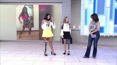 Modelo e atleta amputadas mostram próteses adaptadas ao salto alto - Camille Rodrigues conta que adora dançar e mostra vídeos