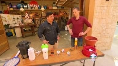 Aprenda como deixar os mosquitos longe de casa - Eliminar focos de água parada é apenas uma das dicas de Ademir Martins