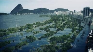 Aquecimento do planeta pode deixar cidades debaixo d'água, diz estudo - Projeções são para se a temperatura aumentar em apenas 2ºC. Em todo o país, oito milhões vivem hoje em área que seriam alagadas.
