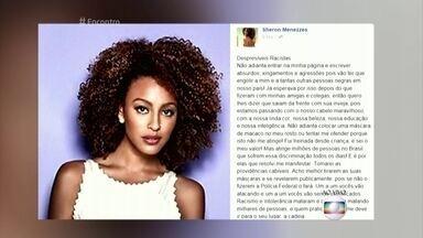 Sheron Menezzes fala sobre os ataques racistas que sofreu na web - Fátima Bernardes conversa com a atriz, que passa férias na Alemanha, e lê trecho de desabafo que Sheron fez nas redes sociais. Convidados também falam sobre o preconceito