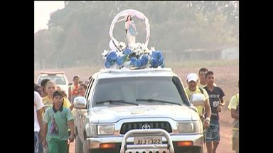 Em Santarém, fiéis caminham 56 km em devoção a Nossa Senhora da Conceição - Romeiros saíram da comunidade Baixa da Onça na tarde de segunda-feira (7). Chegada à catedral foi por volta das 5h30 desta terça-feira (8).