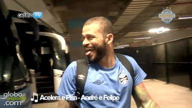 Confira as músicas mais tocadas no vestiário do Grêmio - Assista ao vídeo.