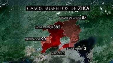 Já são mais de 500 casos suspeitos de Zika na Baixada - Moradores de um condomínio em Nova Iguaçu se uniram contra o mosquito. Doutor Luiz Fernando tira dúvidas sobre o vírus.