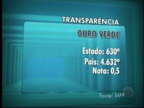 MPF divulga Ranking Nacional dos Portais da Transparência - No Oeste Paulista, Lucélia obteve a maior nota, com 8,10.