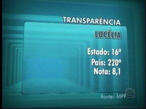 Lucélia é considera a melhor cidade da região em relação à transparência nas contas - Ranking foi feito pelo Ministério Público Federal.