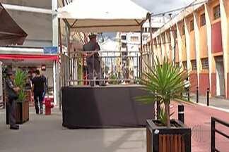 Mogi das Cruzes começa a usar plataformas de observação no centro do município - As plataformas são de dois metros de altura para facilitar o policiamento.