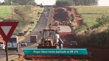 Liberado trecho duplicado da BR-376 entre Nova Esperança e Presidente Castelo Branco - Mas segundo a concessionária Viapar, a liberação da pista duplicada é provisória, já que ainda faltam alguns detalhes.