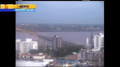 Tempo: chuva chega ao RS pela Fronteira Oeste nesta segunda (21) - Em Rio Grande, não há previsão de chuva.