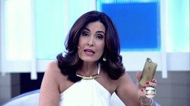 Celular de Fátima Bernardes toca durante o programa - Apresentadora explica que deixou telefone ligado para saber se os filhos chegaram bem em casa