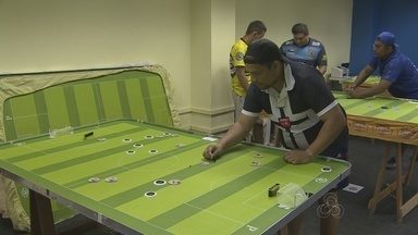 Campeonato de futebol de mesa é realizado na Arena da Amazônia - Competição reuniu os apaixonados por este esporte de raciocínio.
