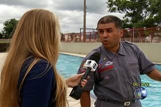 Bombeiros dão dicas de como se comportar frente a um afogamento - Com a chegada do verão, o uso de piscinas e as idas à praia são mais frequentes.