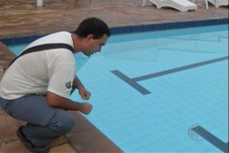 Fiscalização contra a dengue em Guararema não deixa piscinas de fora - É preciso ter cuidado especial com piscinas para que não sejam criadouros da larva do mosquito.