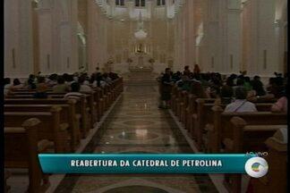Após dois anos sendo reformada, Catedral de Petrolina é reaberta - A noite da segunda-feira (28) foi especial para os católicos de Petrolina.