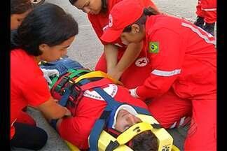 Cruz Vermelha treina voluntários para eventos - Voluntários vão atuar nas festas de final de ano.