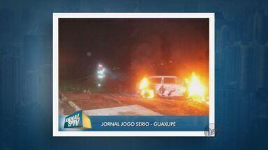 Criminosos furtam R$ 25 mil e incendeiam carro em Guaxupé (MG) - Criminosos furtam R$ 25 mil e incendeiam carro em Guaxupé (MG)