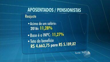 Reajuste para aposentados e pensionistas que ganham mais de um salário mínimo é definido - Na Bahia, são mais de 300 mil pessoas nesta situação.