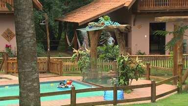 Reportagem mostra opção de lazer na região para as férias - É o Rancho Fundo, que fica na comunidade de Concórdia, distrito de Toledo.