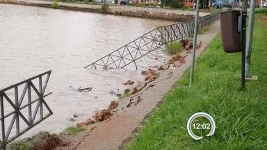 Chuva deixa estragos nas cidades da região - Veja a situação após a tempestade que atinge a região desde a noite de quarta-feira (13).