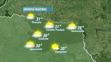 Tempo segue instável na região de Londrina - Veja a previsão do tempo para hoje à tarde e também para o fim de semana.