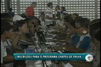 Inscrições para o Projeto Chapéu de Palha começam na segunda-feira (18) - O programa concede um benefício em dinheiro aos trabalhadores rurais da fruticultura irrigada, no período da entressafra.