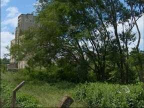 Abandono da Cesa gera reclamação dos moradores de Passo Fundo,RS - A área onde funcionava o silo está tomada pelo mato