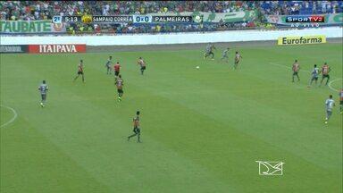 Sampaio perde para o Palmeiras e é eliminado da Copa São Paulo - Tricolor fez a melhor campanha de sua história no torneio