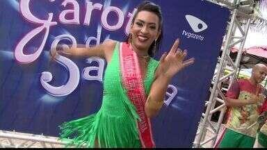 Candidata represente a Jucutuquara no concurso Garota do Samba, no ES - Ela foi a terceira candidata a se apresentar no ESTV.