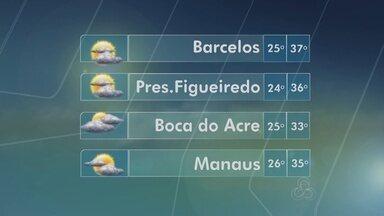 Confira a previsão do tempo para este sábado (16), no Amazonas - Capital deve ficar com mínimas de 26º e máximas de 35º.