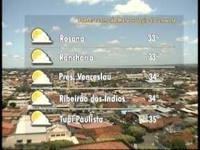 Semana começa com tempo firme no Oeste Paulista - Confira a previsão para as cidades da região.