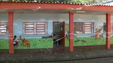 Estrago da chuva nas escolas de Londrina pode comprometer início das aulas - Mais de 80 creches e escolas tiveram problemas. Algumas foram parcialmente interditadas. Secretária de Educação procura espaços alternativos para o início das aulas.