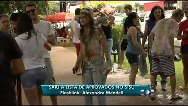MEC divulga a lista de aprovados no Sisu - Selecionados comemoram no Parque Vaca Brava, em Goiânia