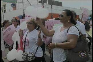 Protesto pede urgência na resolução do Caso Beatriz Mota em Petrolina - Grupo iniciou movimento na Praça Maria Auxiliadora, no Centro.