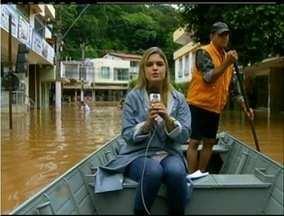 Rio Paraíba do Sul transborda e inunda cidades do Norte Fluminense - Cambuci e São Fidélis foram atingidos.