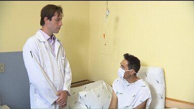 Homem recebe transplante de fígado no dia do aniversário - Jorge é de São Mateus do Sul e estava em Curitiba por acaso, para participar de um encontro religioso.