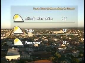 Meteorologia aponta dia bem quente para Presidente Prudente e região - Previsão do Tempo diz que os termômetros podem chegar aos 35º no Oeste Paulista.