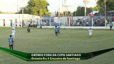 Grêmio perde para o Cruzeiro e está fora da Copa Santiago - Assista ao vídeo.