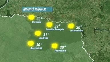 Domingo será ensolarado em todo o estado - O dia começa com 17º em Londrina e a tarde os termômetros podem chegar a marcar 31º. No início da semana a nebulosidade pode aumentar aqui na região norte.