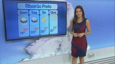 Confira a previsão do tempo para domingo (24) na região de Ribeirão Preto - Dia deve ser ensolarado, com possibilidade de pancadas de chuva isoladas durante à tarde.