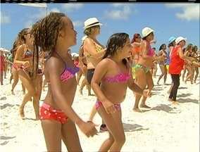 Projeto 'Estação Verão' e retorno do Sol animam o público da Praia do Forte, no RJ - Iniciativa é da Inter TV.