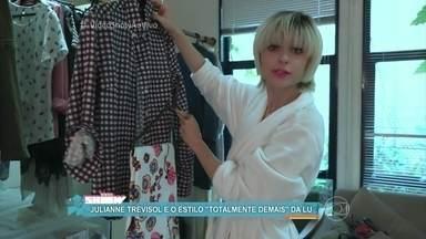 Julianne Trevisol mostra o estilo da Lu de 'Totalmente Demais' - Atriz mostra as mudanças que fez em seu visual para viver a it-girl na novela das sete
