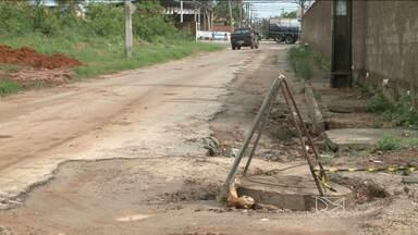 Chuva invade condomínios e provoca prejuízos a moradores do Parque Atlântico, em São Luís - Apesar de trazer melhorias para o bairro, o serviço em algumas ruas está causando danos na pavimentação.