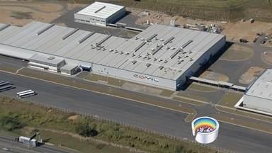 Comil encerra fábrica em Lorena - Empresa que fabrica ônibus foi inaugurada em 2013.