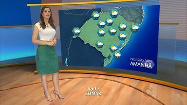 Previsão é de pancadas de chuva durante o dia para o RS - Máxima chega aos 33ºC em Porto Alegre.